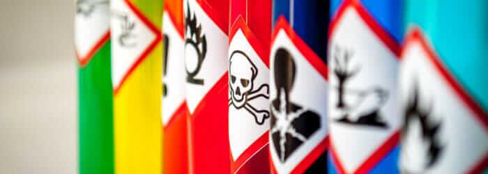 Chemical hazard pictograms Toxic focus